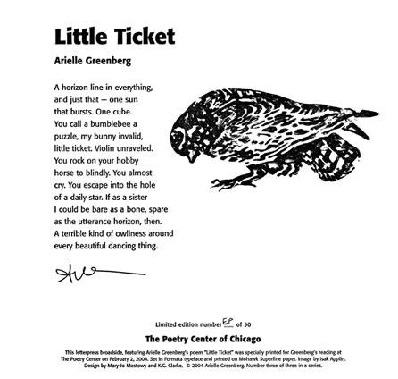 Arielle Greenberg - Little Ticket