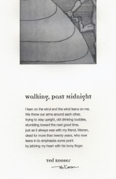 Ted Kooser - Walking Past Midnight