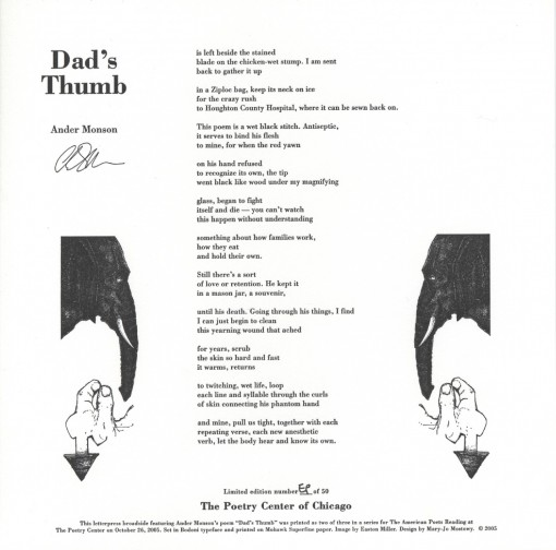Ander Monson - Dad's Thumb