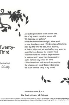 Christina Pugh - Twenty-Third
